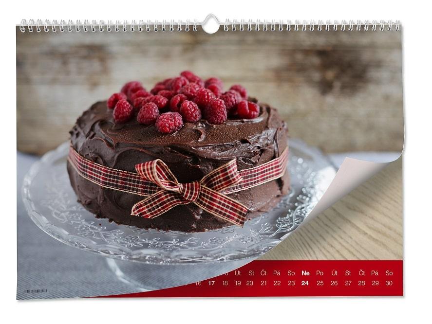 Kalendář s dortem